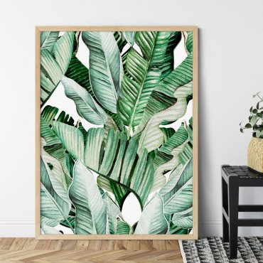 plakat banana tropics