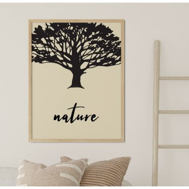 plakat birch of nature