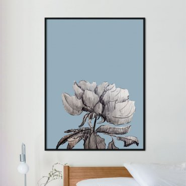 plakat flower blue