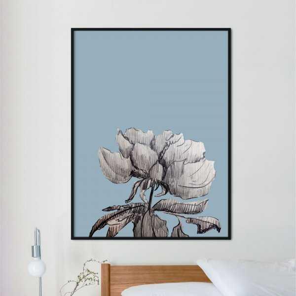 plakat flower blue