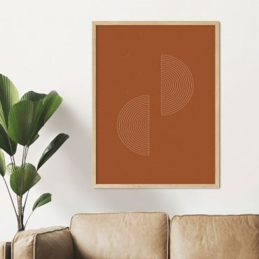 plakat geometric orange