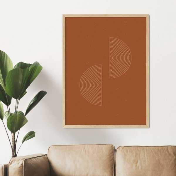 plakat geometric orange