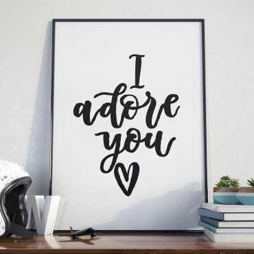 I ADORE YOU - Plakat w ramie