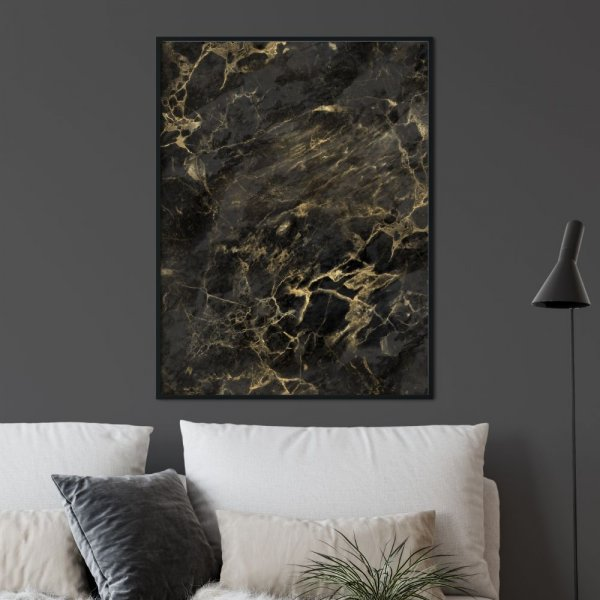 plakat golden marble art