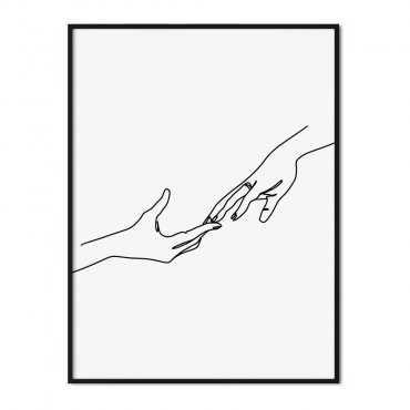 plakat hands of love