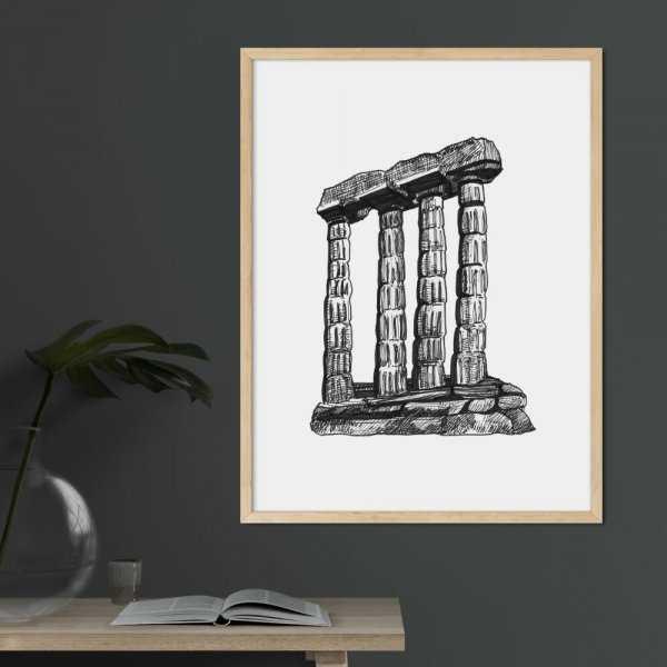 plakat greek architecture