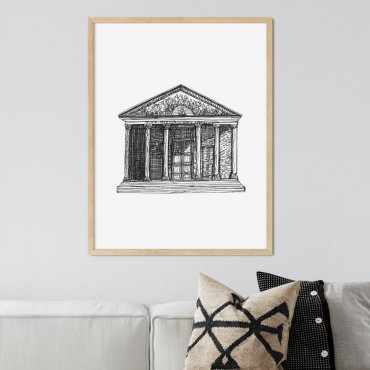 plakat greek temple