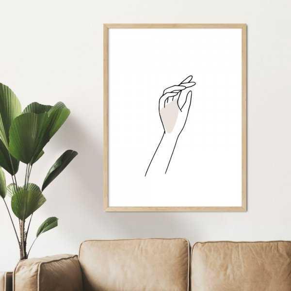 plakat hand of design