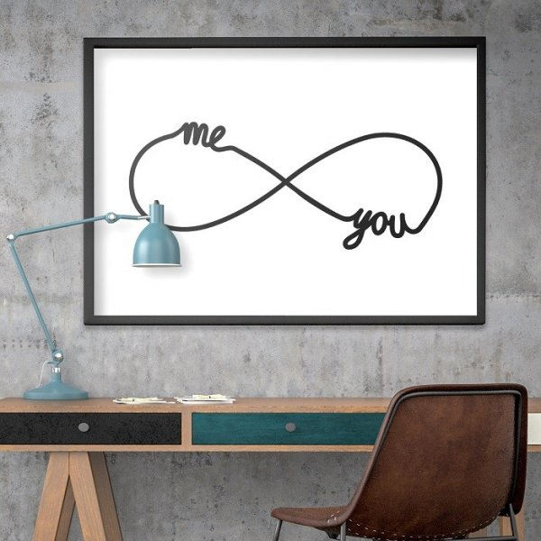 ME & YOU FOR ETERNITY - Plakat w ramie