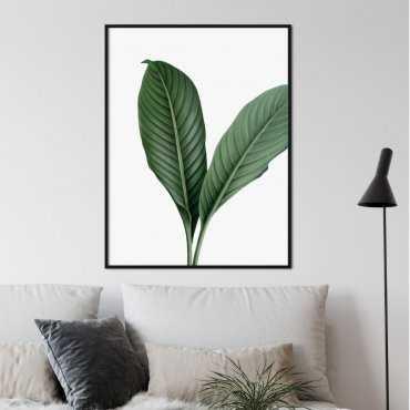 plakat huge leaf