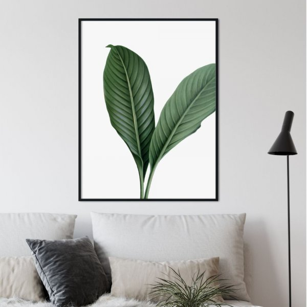 plakat huge leaf