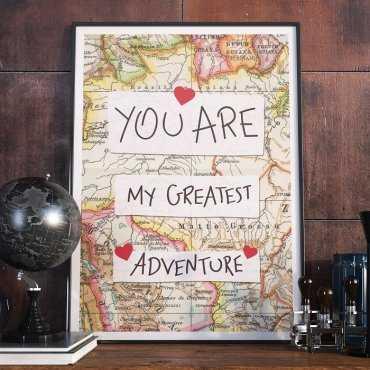 YOU ARE MY GREATEST ADVENTURE - Plakat w ramie