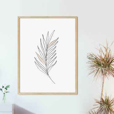 plakat leaf of minimalism