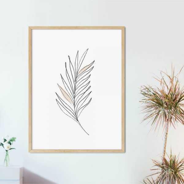 plakat leaf of minimalism