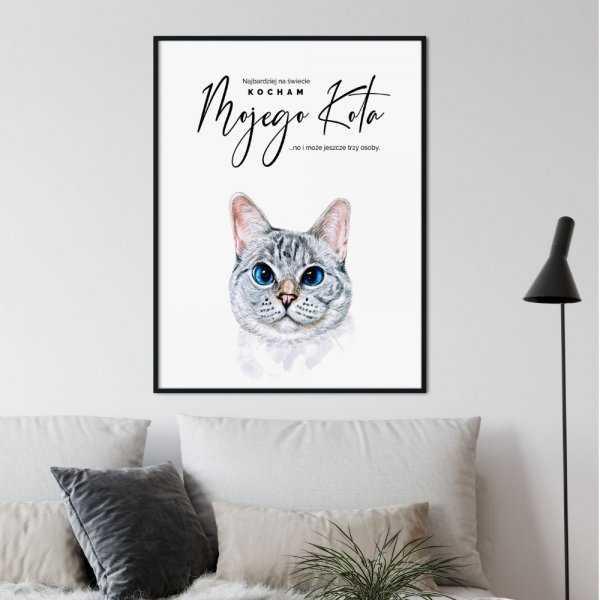 plakat miłość do kota