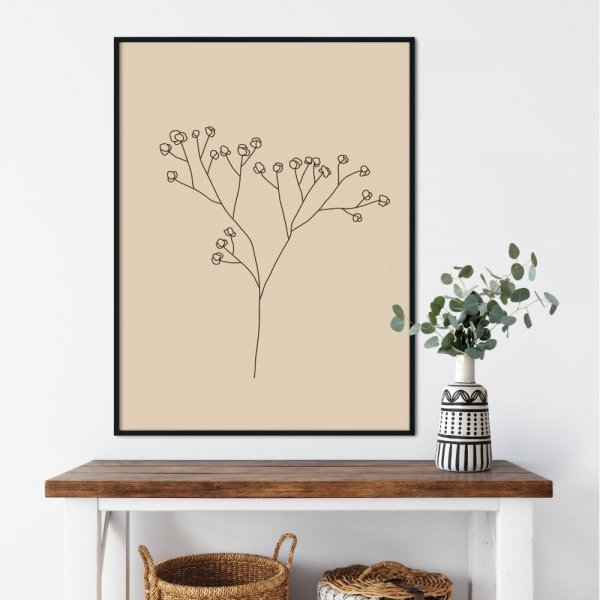 plakat minimal plant
