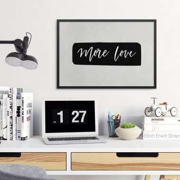MORE LOVE - Plakat w ramie