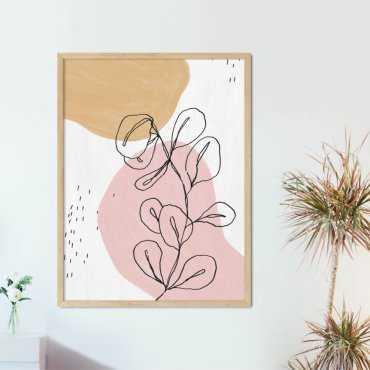 plakat pink beige
