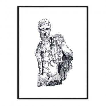 plakat sculpture god