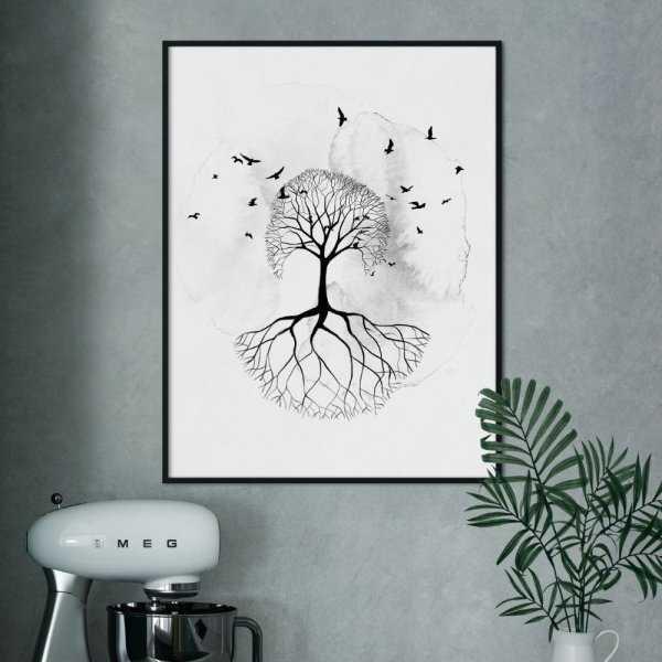 plakat shadow tree