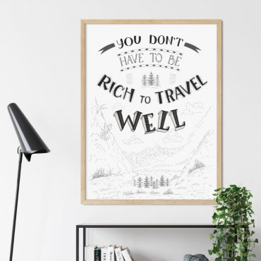 plakat travel well