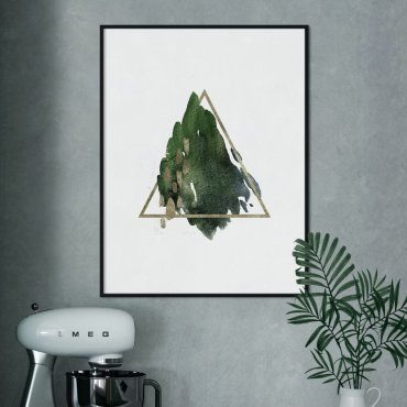 plakat triangle of greenery