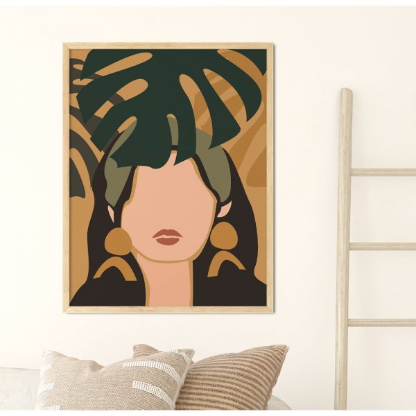 plakat monstera girl