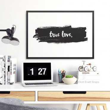TRUE LOVE - Plakat w ramie