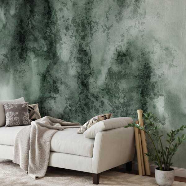 tapeta na ścianę abstract greenery