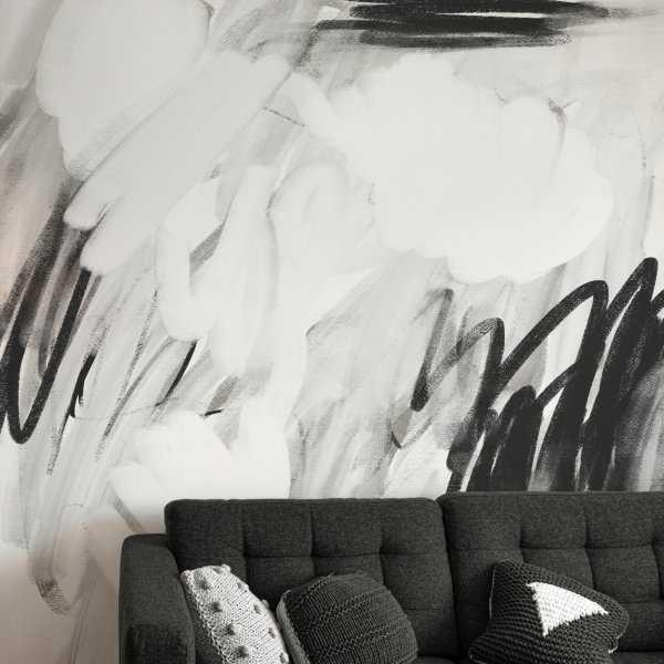 tapeta ścienna art scribbles