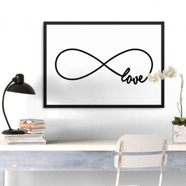 LOVE ETERNITY - Plakat w ramie