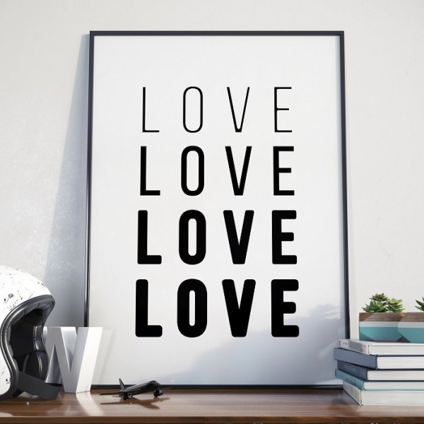 LOVE LEVELS - Plakat w ramie