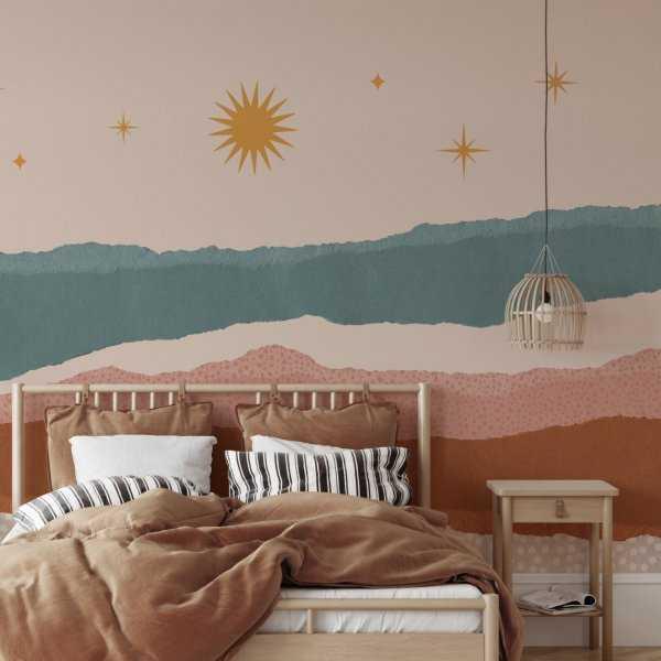 tapeta na ścianę boho sunset