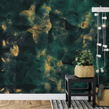 tapeta na ścianę bottle-green elegance