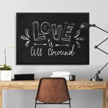 LOVE IS ALL AROUD - Plakat w ramie
