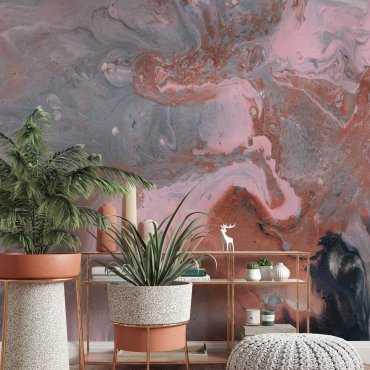 tapeta motyw bricky marble