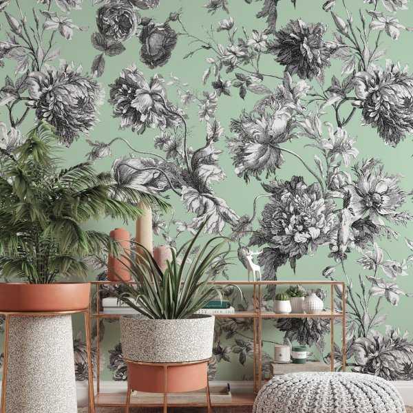 tapeta w kwiaty british flora