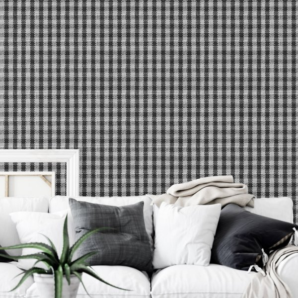 tapeta na ścianę checkered canvas
