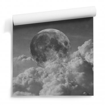 tapeta ścienna cloudy moon
