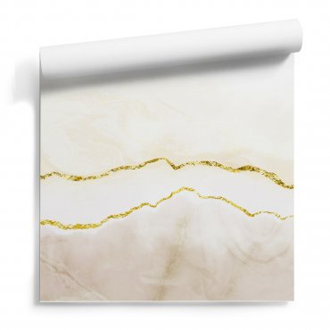 tapeta ścienna cream gold line