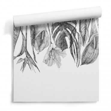 tapeta na ścianę dropping leaves