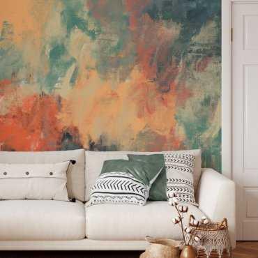 tapeta na ścianę flaming art