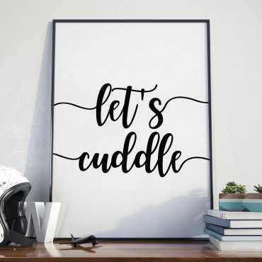 LET'S CUDDLE - Plakat w ramie