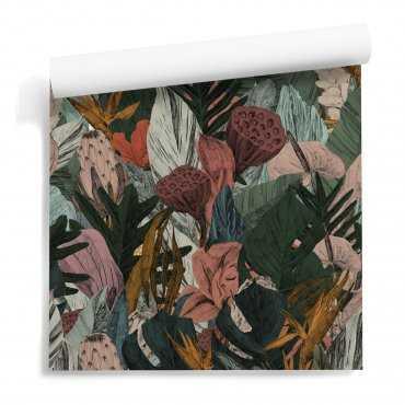 tapeta motyw floral comics