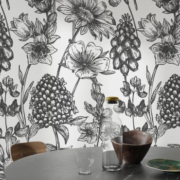 tapeta ścienna floral mystery