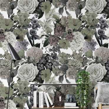 tapeta na ścianę floral sea