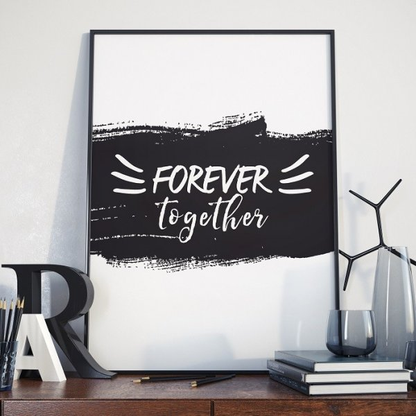 FOREVER TOGETHER - Plakat w ramie