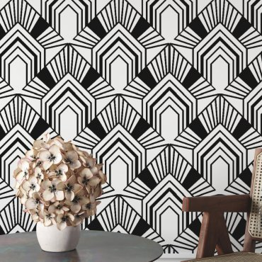 tapeta ścienna geometric art deco