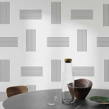 tapeta ścienna geometric line art