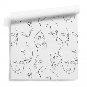 line art beauty tapeta